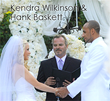 wedding officiant, kendra, kendra wilkinson and hank baskett wedding