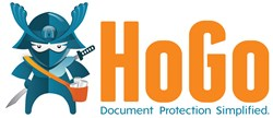 HoGo logo with tag line, Document Protection Simplified