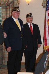 Commander Michael Sayers and Judge Advocate Dennis Jay Sargent Jr at swearing in ceremony