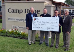 Today, a $43,000 check was presented to the PTSD Foundation and Camp Hope