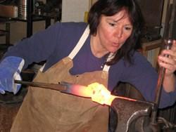 Blacksmith Annette Lavalette