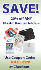 20% off Badge Holders at IDCardGroup.com in August 2013
