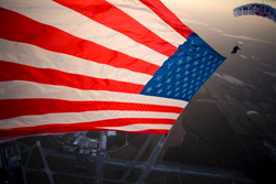 Team Fastrax, Skydive, American Flag
