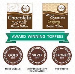 The Secret Chocolatier's Best Toffee Awards, International Chocolate Salon Toffee Winners