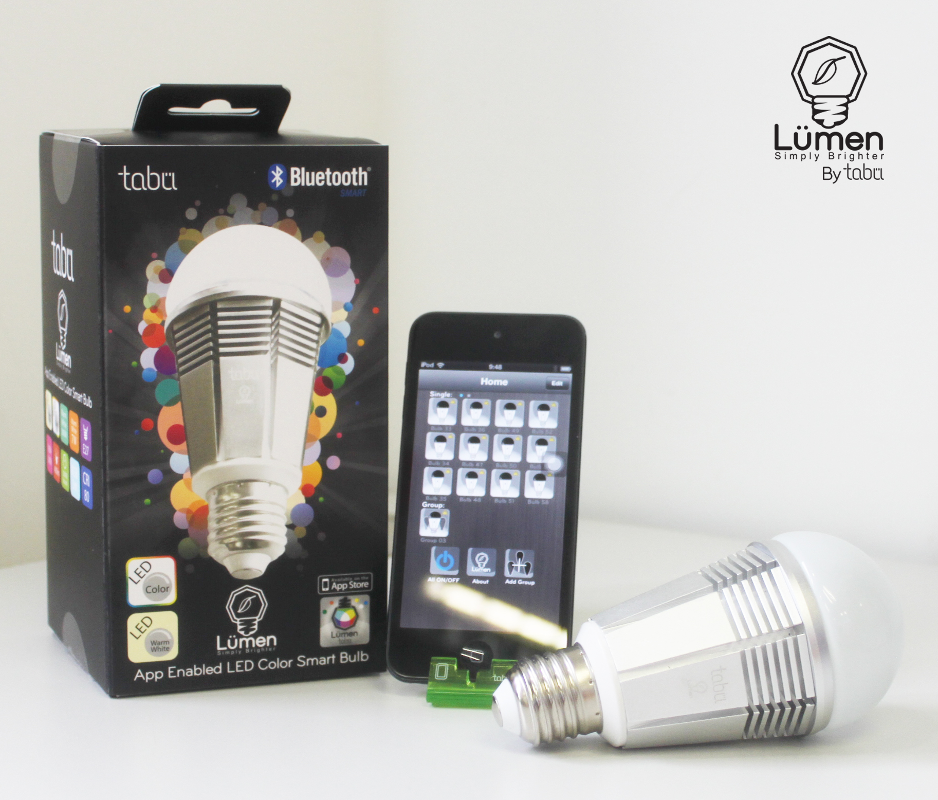 tabu lumen a revolutionary app enabled bluetooth smart bulb now launching. Black Bedroom Furniture Sets. Home Design Ideas