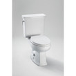 Toto CST424EF 1.28GPF High Profile Elongated Toilet Less Seat with Tank from the Eco Promenade Series
