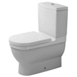 duravit 012809 close-coupled toilet bowl washdown model with vario outlet from starck 3 series