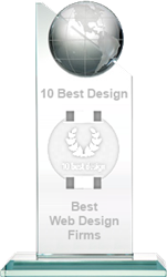 10 Best Web Design Firms Trophy