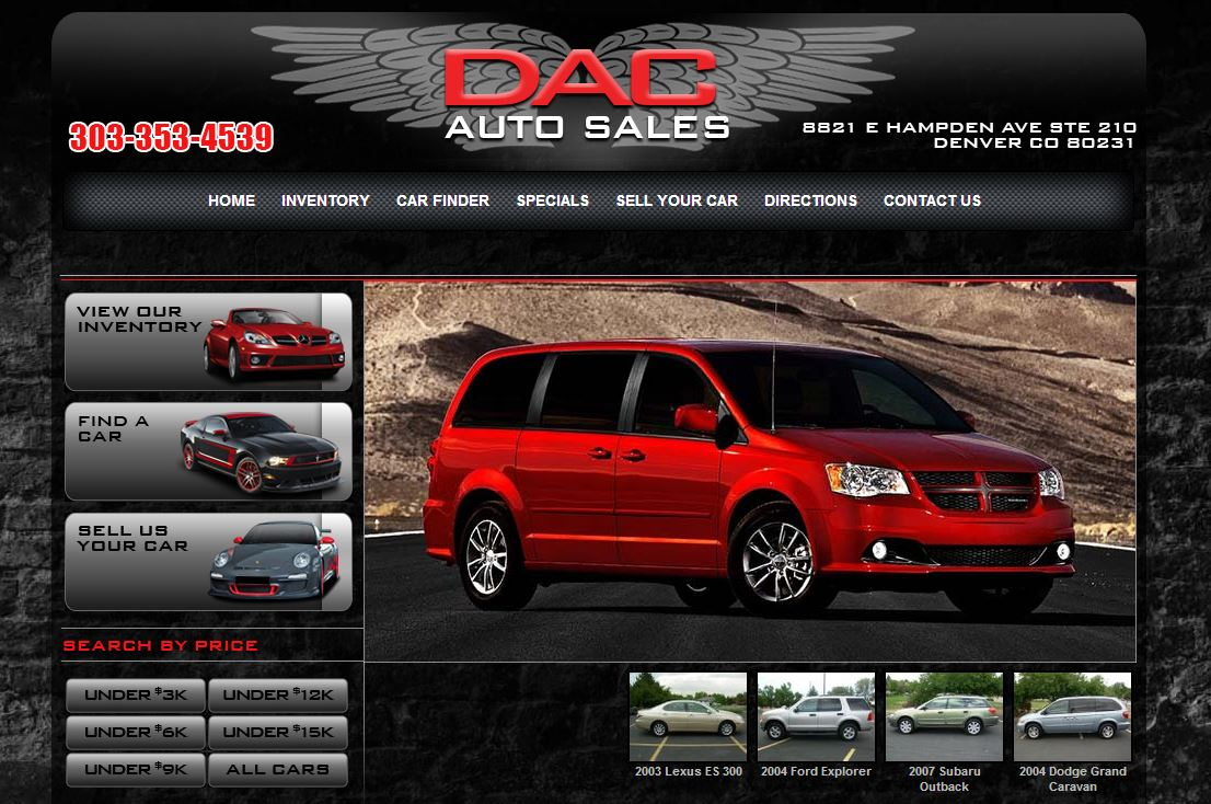 New dealership website built for denver co dac auto for Law motors sioux falls sd