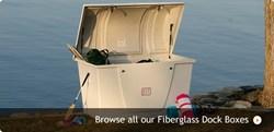 fiberglass dock box by better way products