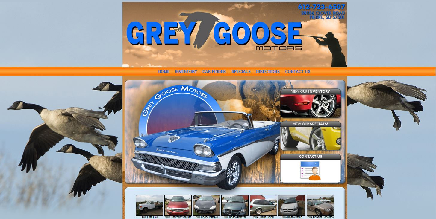 Welcomes grey goose motors for Law motors sioux falls