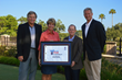 Celebrating the partnership between Legacy Trust Family Wealth Offices and the Web.com Tour Championship are (L to R): Web.com Commissioner Bill Calfee, Legacy Trust Chairman and CEO Kristin McLauchla