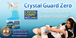 Crystal Guard Zero is a revolutionary chemical that cleans & turns surfaces into real crystal glass.