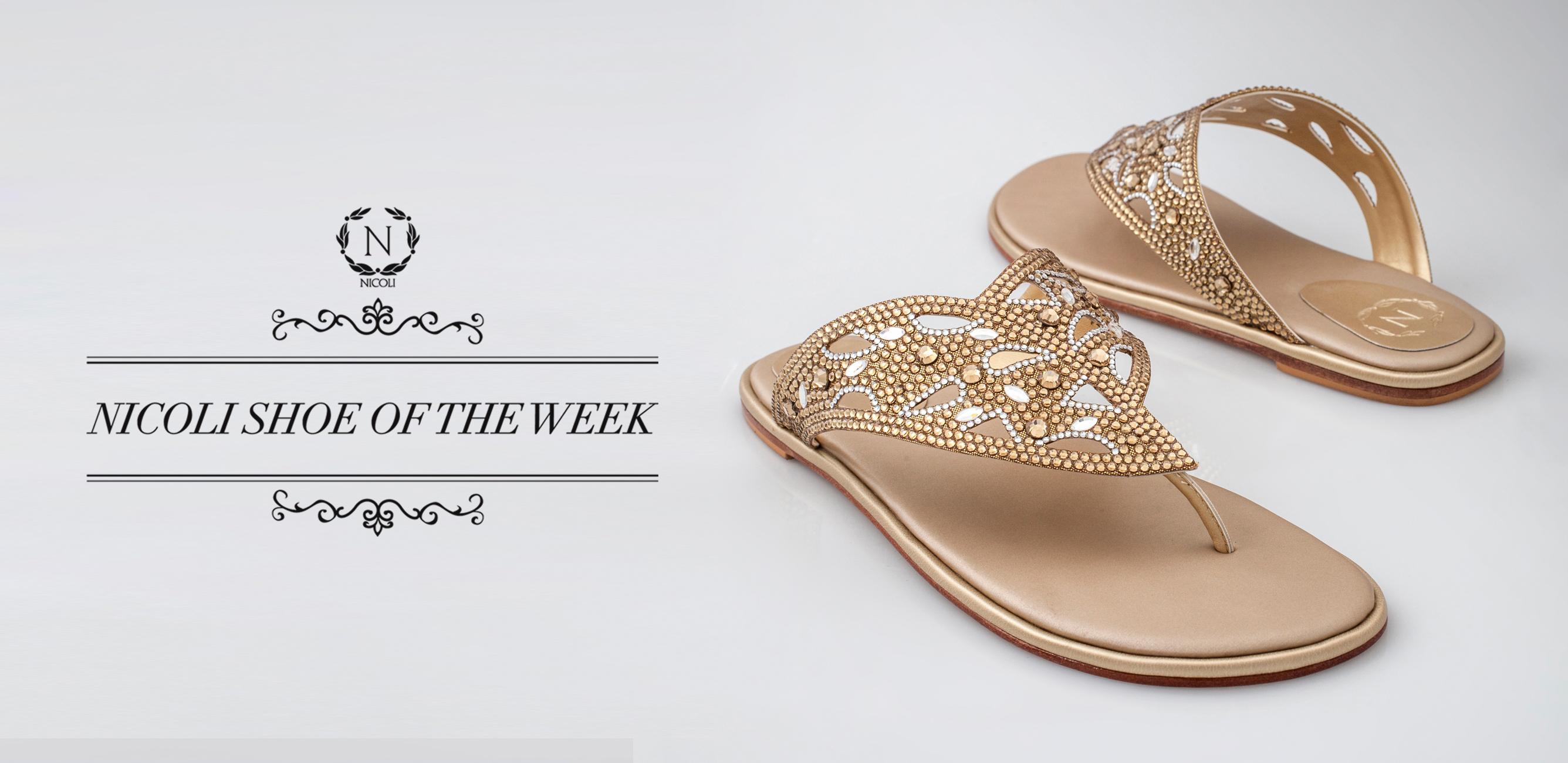 NICOLI Limited Edition Crystal Embellished Shoe ...