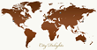 City Delights 'Chocolate Tourism: Delivered to you' - World Map of 'edible flags'