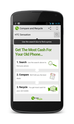 Compare and Recycle Android App
