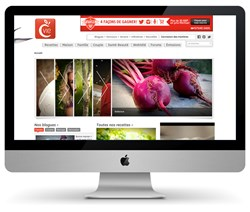 Bell Media's Canal Vie website powered by Atex Web CMS
