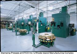 ETCO custom precision metal stamping plant