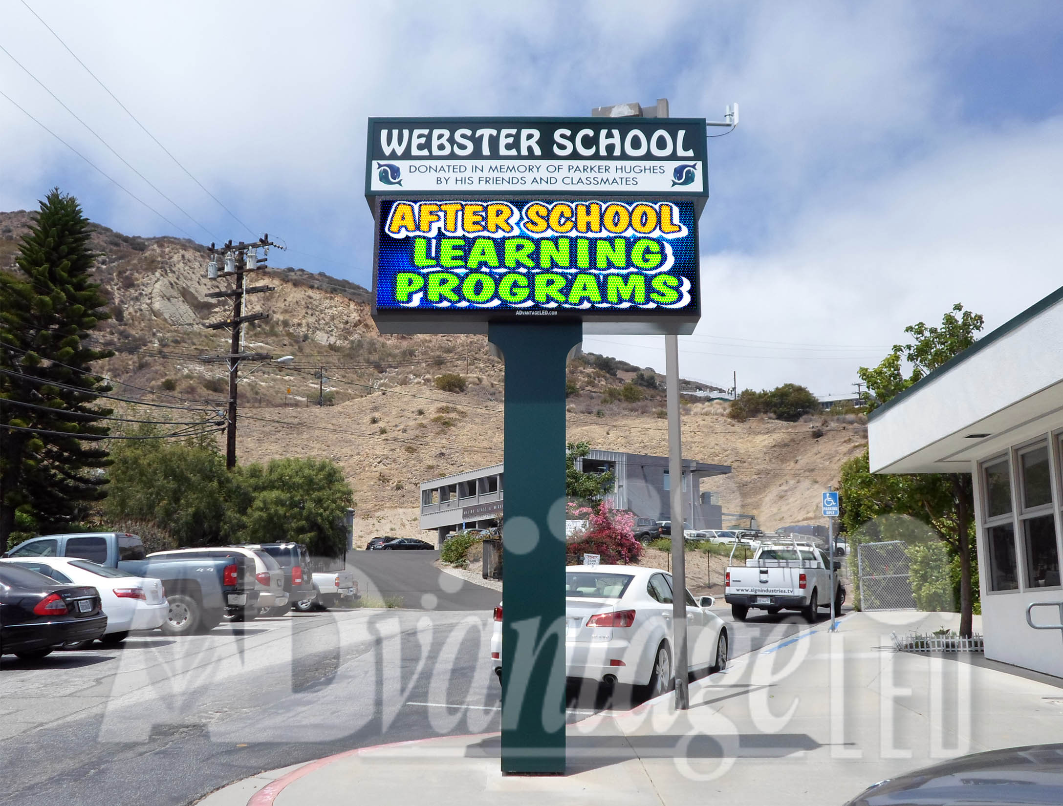 advantage led signs completes installation of webster