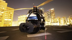 Alan Purwin, VideoFort cofounder, prepares for stock footage shoot of Downtown Los Angeles with the brand new shotover camera system equipped with a set of RED Epic cameras