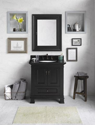 """RonBow 067330 Venice 30"""" Wood Vanity Cabinet with Double Wood Doors and One Bottom Drawer"""