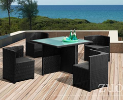 Turtle Beach Table Set Zuo Modern 701148