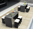 Agadir Table Zuo Modern 701231 and Agadir Single Bench 701230