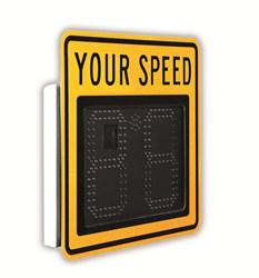 speed indicator sign, radar sign, radar speed sign