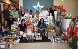 NorthStar Alarm Services employees brought in a total of 3,867 food item donations