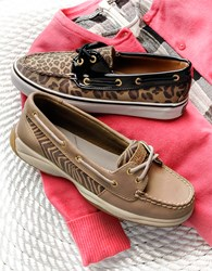 Women's Sperry Biscayne Canvas Boat Shoes. Perfect your preppy style with the Sperry Biscayne boat shoe! The breathable canvas upper promises to keep your feet cool and comfy while classic boat shoe detailing adds the nautical style you love.