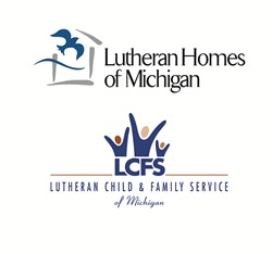 Lutheran Homes of Michigan and Lutheran Child & Family Service of Michigan logos