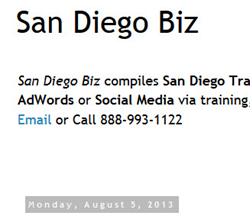 San Diego Business Blog - SEO Training, Classes, Courses