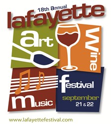 Lafayette Art & Wine Festival 2013 Logo