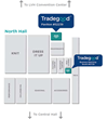 Location of Tradegood Pavilion (#52239) and Business Matching Booth (#51725) at North Hall of Las Vegas Convention Center, Sourcing at MAGIC