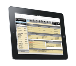 IXACT Contact Real Estate Contact Management System on the iPad