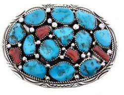 Turquoise Belt Buckle