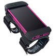 The Saddles features malleable rubber that stretches to fit most iPhone cases and bumpers with open ports for plugging in various accessories and devices. Adjustable straps promise a perfect fit.
