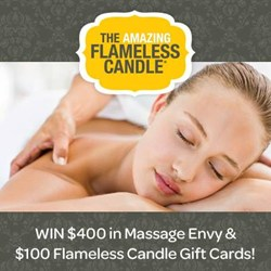 Win $400 in MassageEnvy Gift and $100 in Flameless Candle Gift Cards