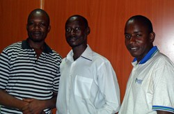 The Hotel Link Solutions Uganda team: Sula Kakande (left), Mamerito  Ssenfuma (right) and Kizza Muhammed