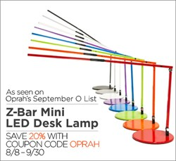 Lightology Customers Save 20% on Koncept's Z-Bar Mini LED Desk Lamp with Promo code OPRAH