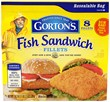 Gorton's Fish Sandwich Fillets contains 8 servings and retails for $5.49, making it a fantastic value to enjoy during National Sandwich Month.