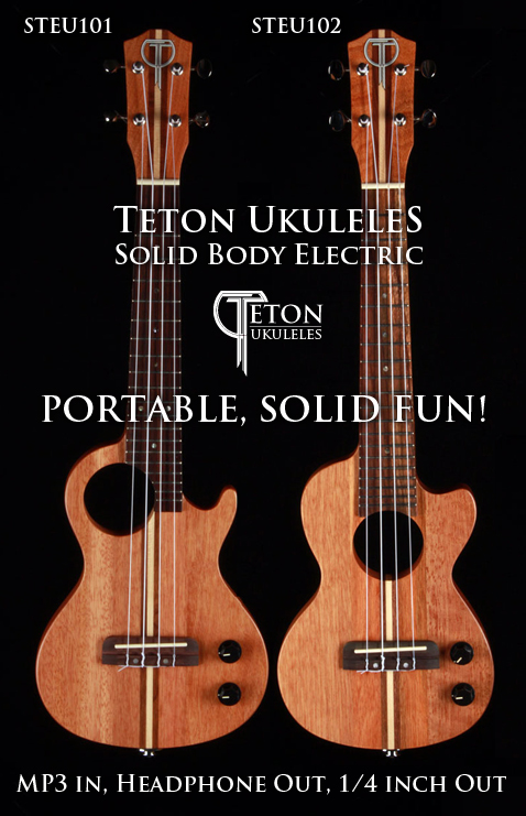 teton guitars introduces portable solid fun with new electric ukuleles. Black Bedroom Furniture Sets. Home Design Ideas