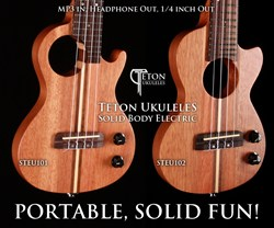 Teton Solid Body Electric Ukuleles