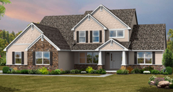 Covington Craftsman style home by custom home builder Wayne Homes