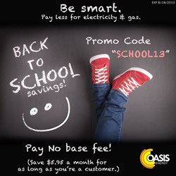 Oasis Energy - Back to School Promotion