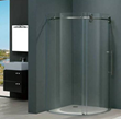 "Vigo VG6031STCL36R 36 x 36 Frameless Round 5/16"" Clear/Stainless Steel Shower Enclosure Right-Sided Door"
