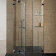 "Vigo VG6042BNCL54 54-inch Frameless Shower Door 3/8"" Clear Glass Brushed Nickel Hardware"