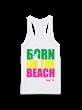 "AVP White Tank ""Born on the Beach"""