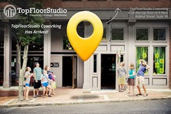 TopFloorStudio Coworking in Downtown Asheville