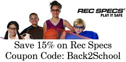 Rec Specs Prescription Youth Sports Glasses